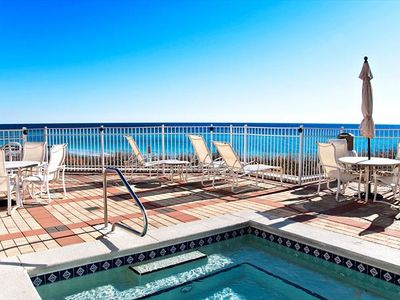 Photo for JUST A FEW STEPS TO WARM GULF WATERS!! POOL/HOT TUB!????