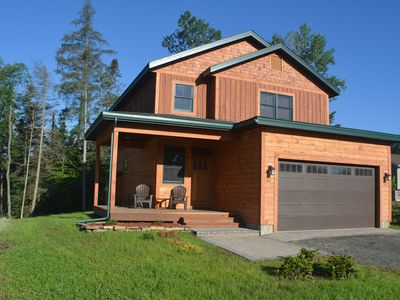Photo for NEW! Adirondack home in Lake Placid Village! 4 Bedrooms, 3.5 Bath, Water view!