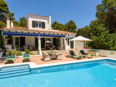Photo for Large villa Son Parc Menorca with private pool and gardens near beach