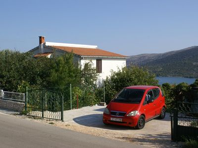 Photo for One bedroom apartment with terrace and sea view Marina, Trogir (A-1062-a)