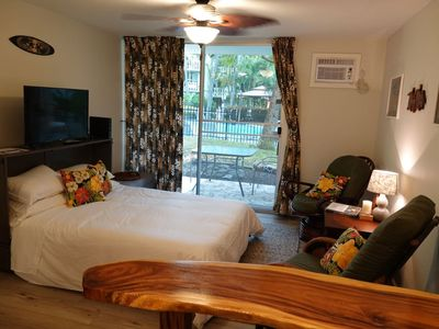 Photo for Clean, Quiet Pool View Studio in downtown Kona- Just Remodeled!!