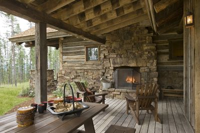 Outdoor covered deck