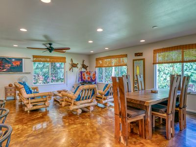 Photo for Tropical, family friendly home w/ modern amenities & a furnished lanai