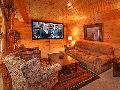 Photo for 3 Bedroom Luxury Gatlinburg Cabin with 9 Foot Theater Screen