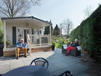 Photo for Lovely detached chalets with verandas, in a holiday park with a heated pool