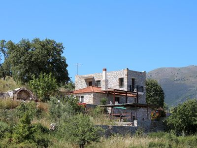 Photo for Vast, direct sea view, calm, idyllic location: detached holiday house Kamares, P