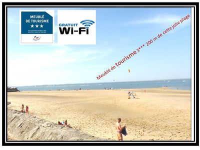 "Photo for Apartment ""Furnished 3 *** tourism"" of 26m2, in Arcachon, sea view, Wifi"