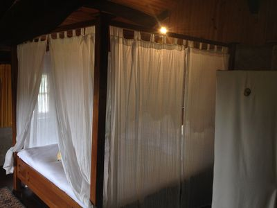 The cottages feature super-king four poster beds