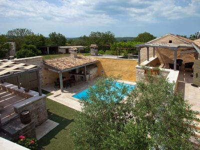 Photo for Careffuly restored old Istrian villa with private heated pool and sauna