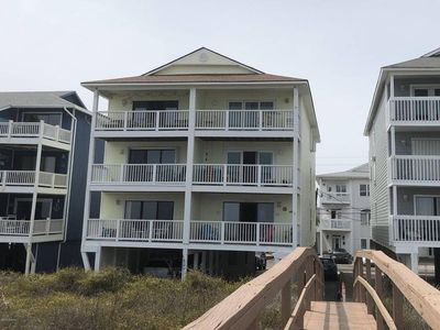 shot of the condo from the beach