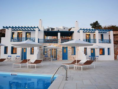 Photo for Single Spaced Apartment with Unforgettable Ocean & Pool View at Krotiri, Paros