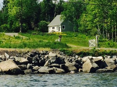 Photo for Quaint Coastal Cottage in Quiet Setting overlooking Baddeck Bay