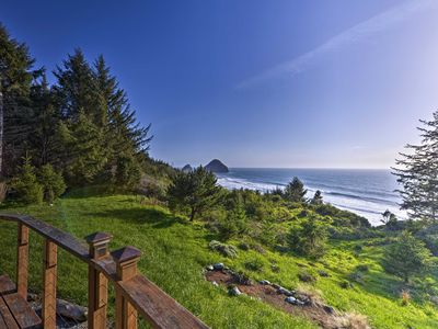 Photo for Forested Gold Beach House w/Panoramic Ocean Views!