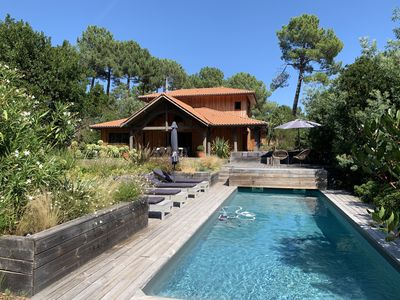 Photo for Lège Cap Ferret - Wood villa with Heated swimming pool comfortable