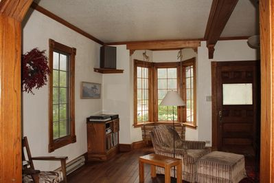 Main floor Living Room. Satellite TV & WiFi. Wood burning stove