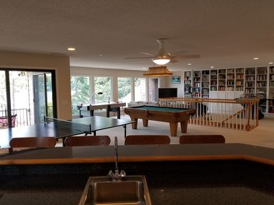 Recreational Room with Pool, PingPong, and 2 Hockey tables and SMART TV