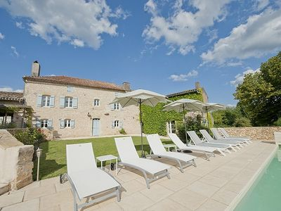 Photo for LUXURY FARMHOUSE  WITH PRIVATE, HEATED POOL IN TRANQUIL LOCATION - DORDOGNE/LOT.
