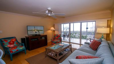 Photo for White Sands #15 Gorgeous Beachfront condo with private cabana, 2 bedrooms, 2 baths, sleeps 6, pool and tennis