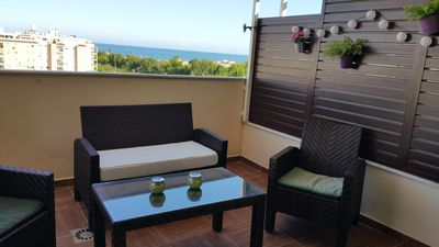 Photo for OLIMPO PENTHOUSE WITH POOL AND BARBECUE, WITH SEA VIEWS 5 MINUTES FROM THE BEACH