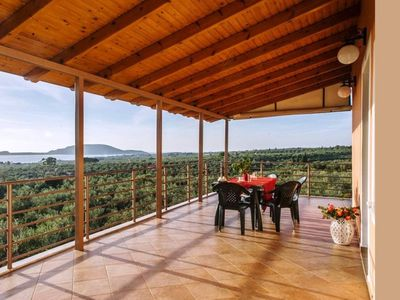 Photo for Seaview flat in an olive grove by the sandy beach