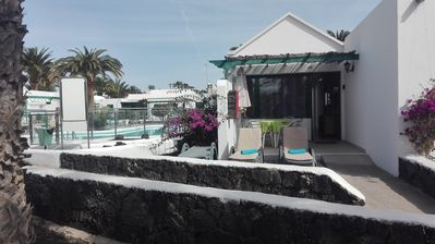 Photo for SPECIAL BARGAIN PRICES Superior Bungalow Garden Seafront pool AirCon