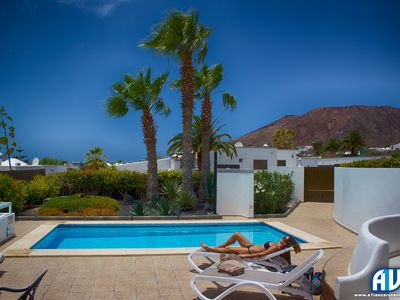 Photo for 3 Bedrooms, Sea Views , Private Solar & Electric Heated Pool, AC ,Close to Town