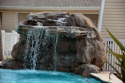 One Waterfall of 3 in the pool
