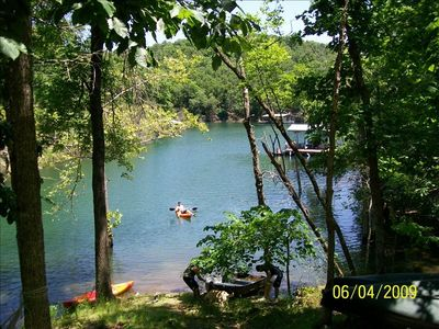 Photo for Lake Front Charming Cabin, Swim, Boat, Relax, Canoe, Kayak, Fire Pit