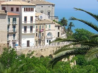 Panoramic Town Wall Overlooking the Sea