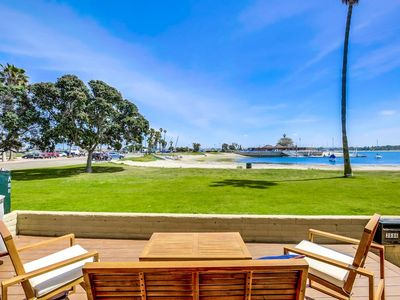 Photo for Waterfront ☆ Exclusive Ground Level Patio ☆ AC