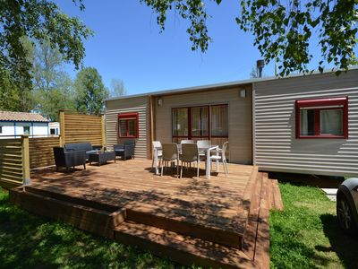Photo for MobileHome Deluxe 3 bedrooms 36m² - Camping *** 3-star riverfront