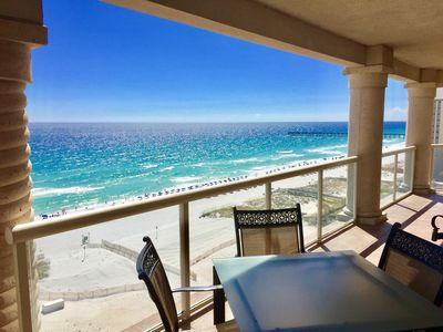 1,500 sqft of covered balconies - south balcony seats 10 w/amazing views of Gulf