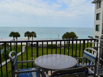 Gulf front condo with private balcony and view!