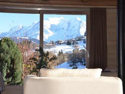 Photo for Modern chalet, close to village and slopes with stunning views of Mont Blanc