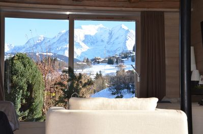 stunning views of Mt Blanc from the comfort of the living room