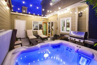 Private Courtyard and New Hot Springs Spa
