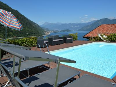 Photo for Villa Azuleja, lovely property with amazing view on the lake and pool