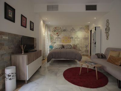 Photo for Juan Rabadan apartment in San Vicente with WiFi, air conditioning, private roof terrace & lift.