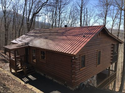 Photo for Cozy Log Cabin Off Aska Road Minutes from Downtown Blue Ridge!