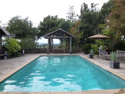 Photo for Beautiful And Private Ridgetop Retreat W/ Panoramic Views, Giant Pool, Sunsets