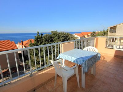 Photo for Studio flat with terrace and sea view Mandre, Pag (AS-3557-a)