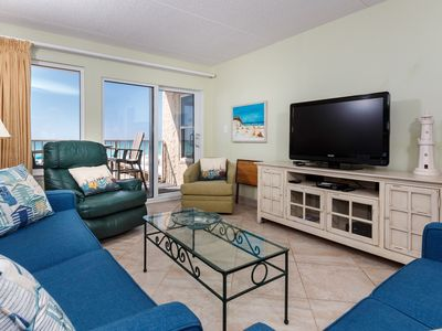 Photo for Comfortable Beachfront Condo, Beach Setup Included, Quick Drive To Dining