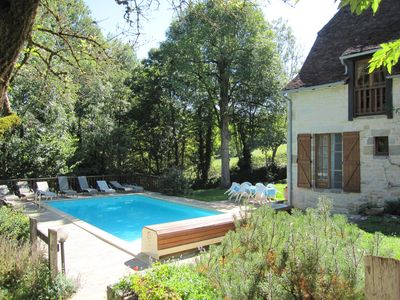 Photo for Beautifully renovated farm barn in a gorgeous environment, garden and swimming pool