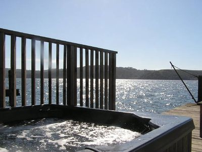 Hot tub overlooking Tomales Bay and Tomales Point