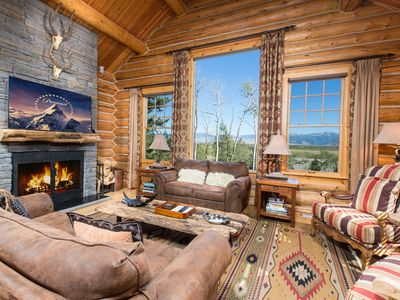 Photo for Spectacular View Luxury Log Home Adjacent to Lifts, Village & Four Seasons