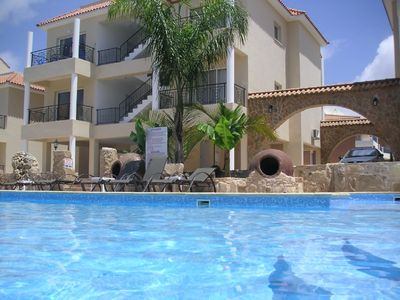 Photo for Sofilia luxury self catering apartment with communal pool & sea views