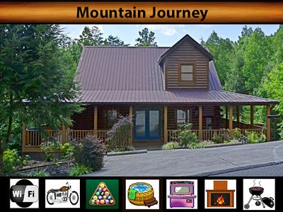 Photo for Mountain Journey - WiFi / Hot Tub / Arcade Game / Pool Table