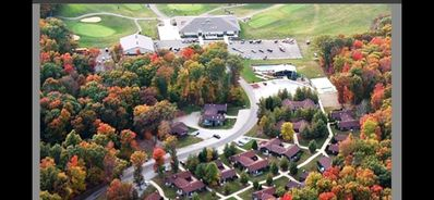 Aerial view of Condos.  (AV Golf Course at top)
