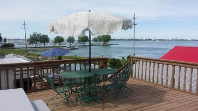 Photo for Top Deck Boathouse 3 Story Home W/ 40Ft Boat well (boat well cost not included)