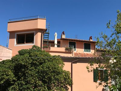 Photo for POGGIO, spacious apartment in a village still in time between sea and mountains